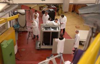 Premier Module de détection SM1 installé à BR2 (Belgique)