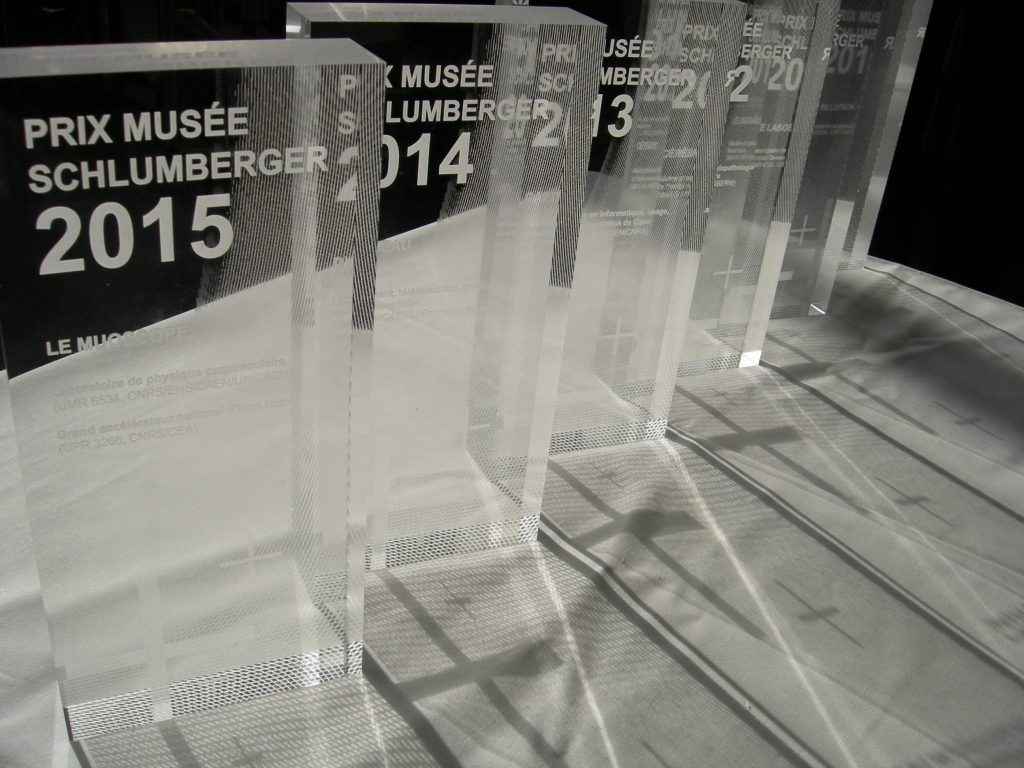 Prix Musée Schlumberger. Concours Têtes chercheuses. Billotron (2010), Muoscope (2015).